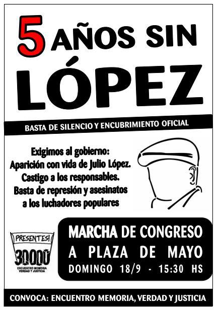 5 años sin López
